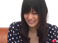 Nozomi Koizumi sucking and playing with sex toys