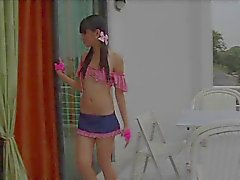 Perfect young perky tit brown skinned stripper loves to take off her clothes