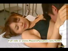 Mihiro innocent Chinese teen brunette gets licked