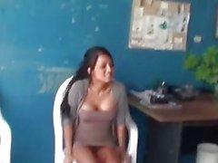 Beautiful girlfriend striptease