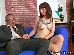 Elena gets a good fucking grade from teacher