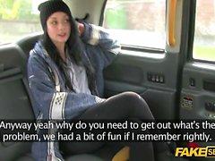 A European Petite brunette teen Fucks her Cab Driver