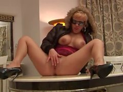 Hungarian beaty Britney clothed sex on a table