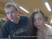 HUNT4K. Need of cash make boy eager to let stranger nail his girl
