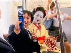 Old Pervert Mistakes Geisha for an Ice Cream