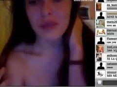 18yo pretty spanish teen fingering pussy on webcam