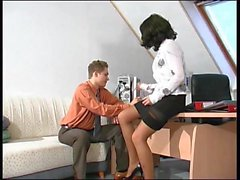 Russian mature Esther fucked in office