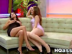 Stunning Lesbians Playing At The Club