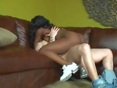 Interracial sex with horny black cheerleader
