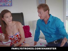 FamilyStrokes - Slutty Social Media Teen Fucked