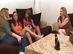 Four frisky females have some fantastic lesbian flesh sessions