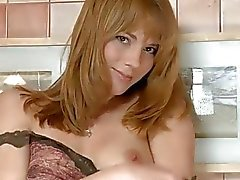 Natural tits Beatris fingers hairy pussy