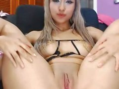 Hot Exotic Young Blonde Girl Teasing pussy