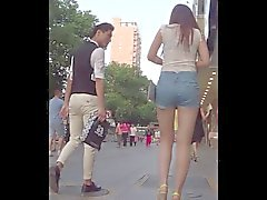 Young nice ass on the streets of China