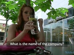 PublicAgent Sexy Czech Redhead Fucks Wildly at Public Garage