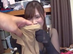 japanese pantyhose footjob 7