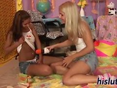 Brandy and Cipriana try out lesbian sex