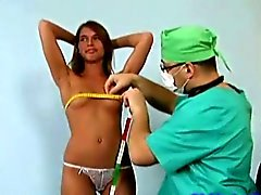 young perky blonde getting examined
