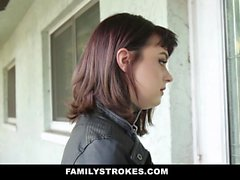 FamilyStrokes - Nova Cane Gets Filled By Her Cousins Cock