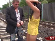 Hot teen public anal and cumshot