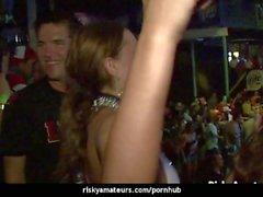 Wild amateur sluts dancing dirty at the night club