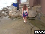 Teen Good Girl Flashes Her Tits Ass & Pussy at The Beach
