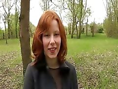 Sade a cute redhead gangbanged by 4 guys