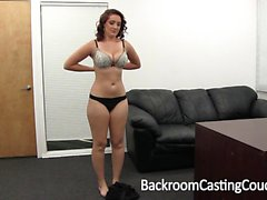 Brenna auditions to be a pornstar at Backroom Casting Couch