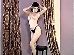 Young Dita von Teese - full naked Striptease