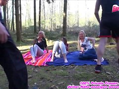 German public teenager groupsex outdoor forest