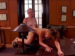 Old boss bangs her secretary