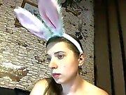 Busty bunny masturbating