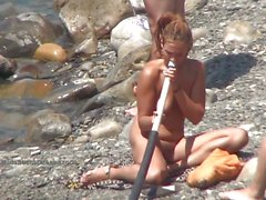 Frisky Awesome nude beach babes compilation