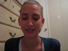 Teen sets up her webcam for humiliation talk