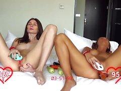 Orgasm World Championship: two hot beautiful teens