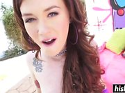 Misha Cross in fishnet stockings gets plowed