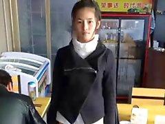 Cute Chinese girl Meng Li masturbates on cam