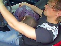 Dirty girl Beata sucks hard rod in car