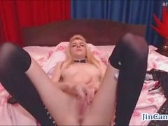 Sexy Foreign Babe Dances and Strips for a Nice Masturbating Session