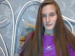 Sexy Teen Brunette Hairjob, Hardcore, Striptease, Long Hair