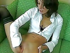 Skinny young amateur babe fisted in her loose twat