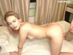 hot fuck petite couple makin love on webcam one