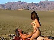Hippie Couple Fuck Outdoors - Doing It In The Desert