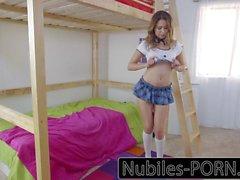 Nubiles-Porn Hot schoolgirl gets hard fast fuck