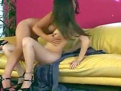 Penny and Jassie sexy dildo play
