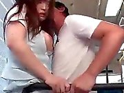 Asian Chick Gets Toyed & Banged In A Bus