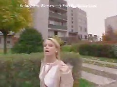 Sexy young Czech blonde amateur gets talked into giving a stranger a blowjob for money