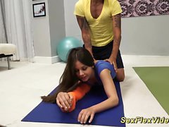 cute flexible gymnast teen fucked