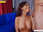 Busty stepmom Syren De Mer recieves a hardcore fuck