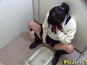 Teen asian pees in toilet